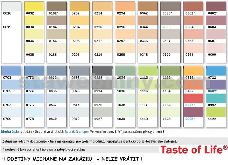 Vzorník fasádních barev baumit