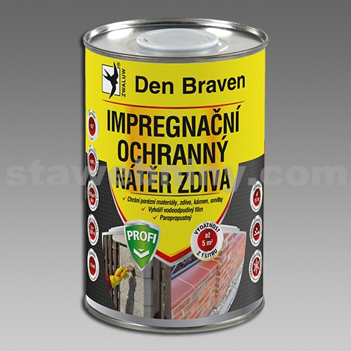 DEN BRAVEN Impregnační a ochranný nátěr zdiva PROFI 1l