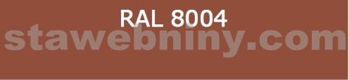 Klempířský prvek - Žlabový hák 250mm opláštěný barevný pozink - cihlově červený RAL 8004