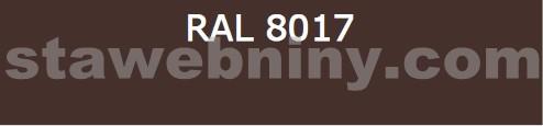 Klempířský prvek - Žlabový hák 330mm opláštěný barevný pozink - čokoládově hnědý RAL 8017