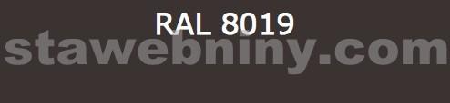 Klempířský prvek - Žlabový hák 330mm opláštěný barevný pozink - tmavě hnědý RAL 8019