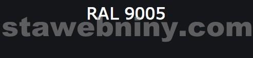 Klempířský prvek - Žlabový hák 330mm opláštěný barevný pozink - černý RAL 9005