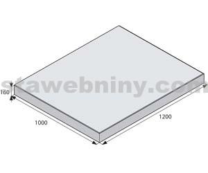 BEST GIGANTICKÁ Bílá 100/120cm velkoplošná dlažba METROPOL tl. 160mm