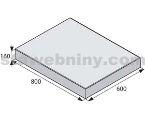 BEST GIGANTICKÁ Bílá 60/80cm velkoplošná dlažba METROPOL tl. 160mm