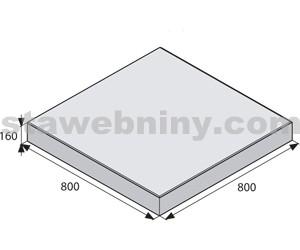 BEST GIGANTICKÁ Bílá 80/80cm velkoplošná dlažba METROPOL tl. 160mm