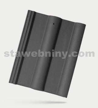 BRAMAC CLASSIC - betonová taška základní 1/1 - břidlicově černá