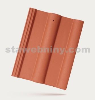 BRAMAC CLASSIC - betonová taška základní 1/1 - cihlově červená