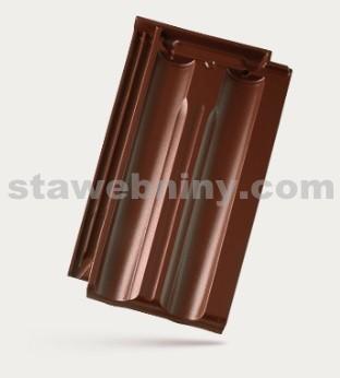 BRAMAC Granát 11 taška základní 1/1 - červenohnědá glazura TOP LINE