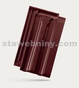 BRAMAC Granát 13 taška základní 1/1 - červenohnědá glazura