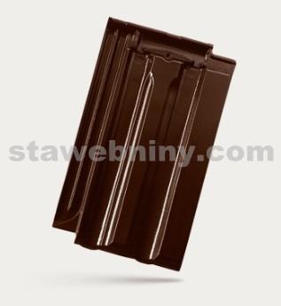 BRAMAC Granát 13 taška základní 1/1 - tmavohnědá glazura