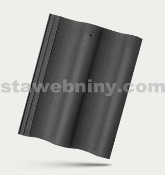BRAMAC MAX - betonová taška základní 1/1 - břidlicově černá