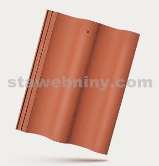 BRAMAC MAX - betonová taška základní 1/1 - cihlově červená