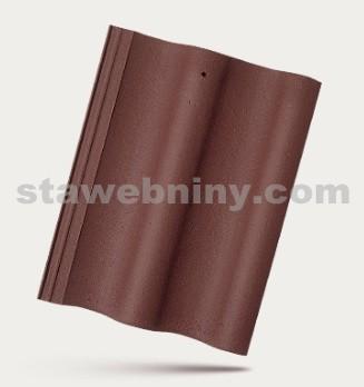 BRAMAC MAX - betonová taška základní 1/1 - červenohnědá