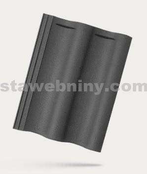 BRAMAC MAX 7 - betonová taška základní 1/1 - břidlicově černá