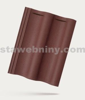 BRAMAC MAX 7 - betonová taška základní 1/1 - červenohnědá