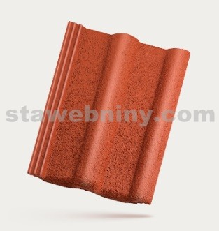 BRAMAC MONTERO - betonová taška základní 1/1 - rubínově červená