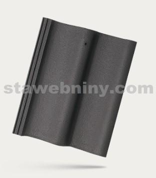 BRAMAC MORAVSKÁ TAŠKA - betonová taška základní 1/1 - břidlicově černá