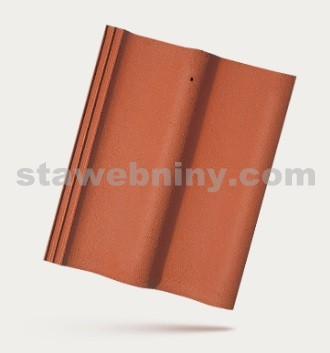 BRAMAC MORAVSKÁ TAŠKA - betonová taška základní 1/1 - cihlově červená