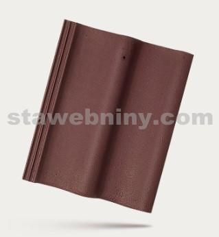 BRAMAC MORAVSKÁ TAŠKA - betonová taška základní 1/1 - červenohnědá
