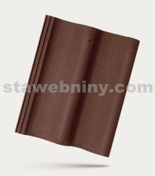 BRAMAC MORAVSKÁ TAŠKA - betonová taška základní 1/1 - tmavohnědá