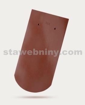 BRAMAC Opál taška základní 1/1 - kaštanově hnědá glazura