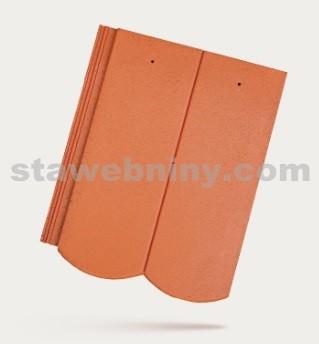 BRAMAC REVIVA - betonová taška základní 1/1 - cihlově červená