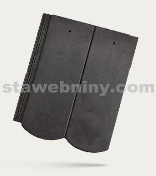 BRAMAC REVIVA - betonová taška základní 1/1 - ebenově černá