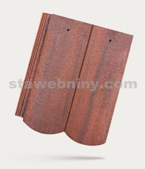 BRAMAC REVIVA - betonová taška základní 1/1 - památkově červená