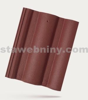 BRAMAC ŘÍMSKÁ TAŠKA - betonová taška základní 1/1 - červenohnědá