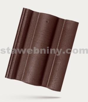 BRAMAC ŘÍMSKÁ TAŠKA - betonová taška základní 1/1 - tmavohnědá