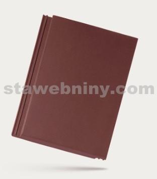 BRAMAC TEGALIT - betonová taška základní 1/1 - červenohnědá