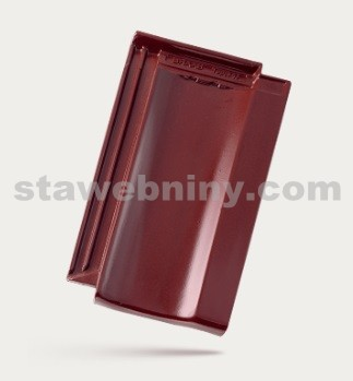 BRAMAC Topas 13 taška základní 1/1 - červenohnědá glazura