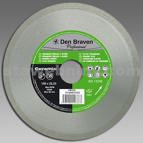 DEN BRAVEN DIA kotouč řezný PROFI CERAMIC 150mm