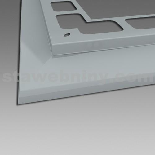 DEN BRAVEN Balkónový profil rohový RAL 9010 bílá 2m