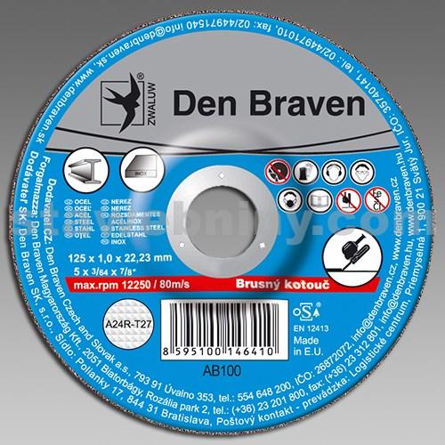 DEN BRAVEN Brusný kotouč A24R-115x6.0x22.23-T27