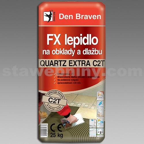 DEN BRAVEN FX flexi lepidlo na obklady a dlažbu QUARTZ EXTRA C2T 25kg šedá