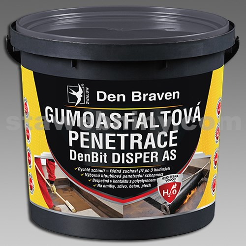DEN BRAVEN Gumoasfaltová penetrace DenBit DISPER AS 5kg kbelík