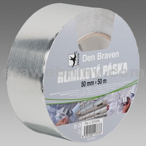 DEN BRAVEN Hliníková páska 100mm*50m stříbrná