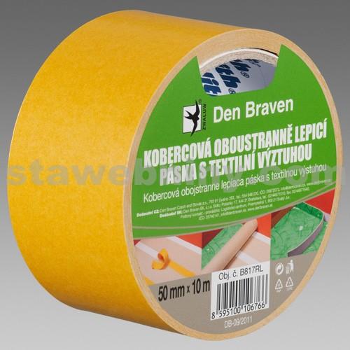DEN BRAVEN Kobercová oboustranně lepicí páska s textilní výztuhou - 50mm*10bm