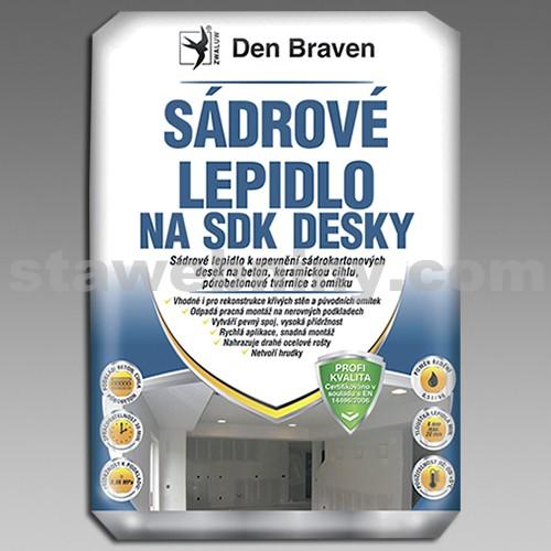 DEN BRAVEN Sádrové lepidlo na SDK desky 20kg