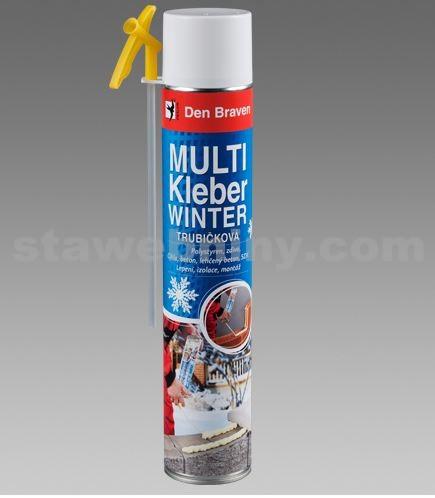 DEN BRAVEN Multi Kleber - žlutá trubičková lepící pěna 825ml - WINTER