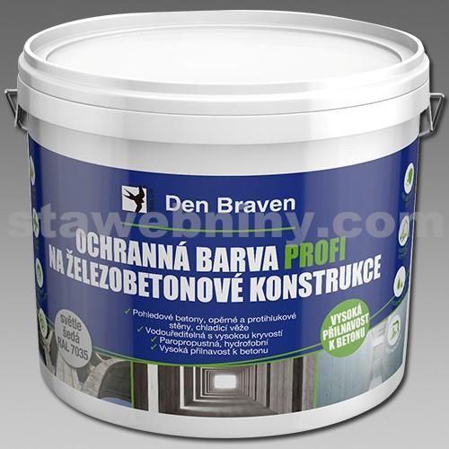 DEN BRAVEN Ochranná barva PROFI na železobetonové konstrukce 11kg šedá, RAL 7035