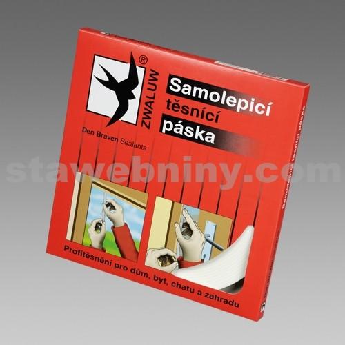 DEN BRAVEN Samolepicí těsnicí páska do oken a dveří - 9*2mm*20bm šedá