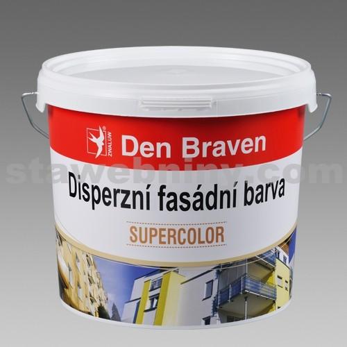 DEN BRAVEN Disperzní fasádní barva 7kg - bílá