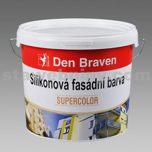 DEN BRAVEN Silikonová fasádní barva 14kg - bílá