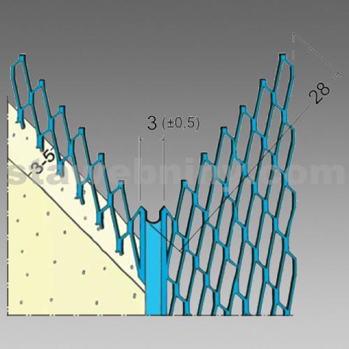 DEN BRAVEN Profil pro suchou výstavbu 3 mm MMG 28 - 2,5 m x 3 mm