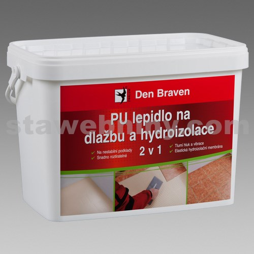 DEN BRAVEN PU lepidlo na dlažbu a hydroizolace 2 v 1 15kg