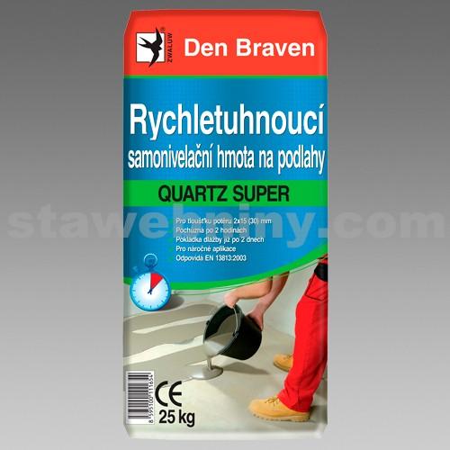 DEN BRAVEN Rychletuhnoucí samonivelační hmota na podlahy QUARTZ SUPER RAPID S400 25kg šedá