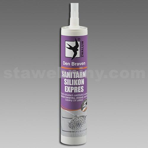 DEN BRAVEN Sanitární silikon EXPRES 310ml bílá