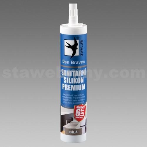DEN BRAVEN Sanitární silikon PREMIUM 310ml transparentní